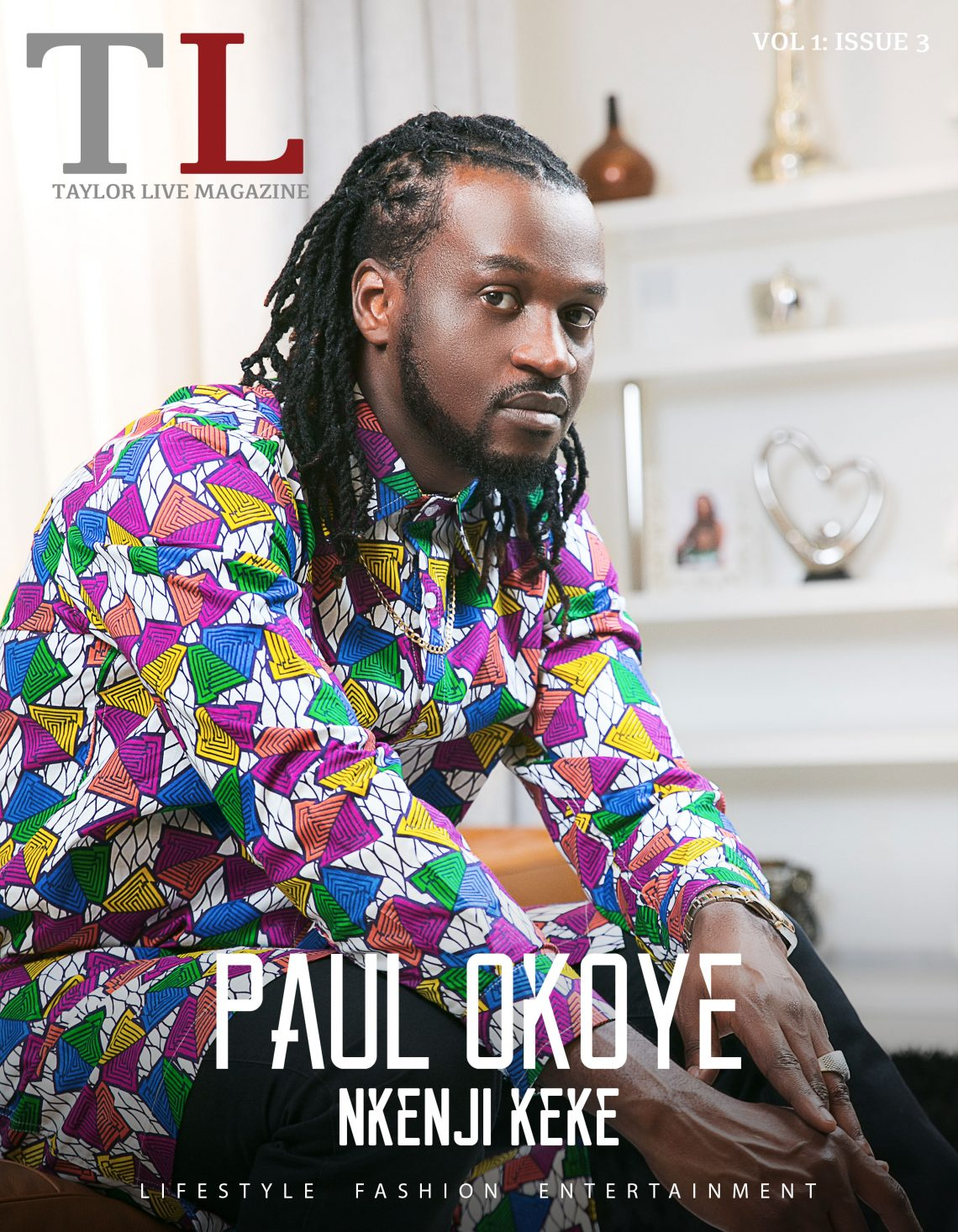 Nkenji Keke! Paul Okoye Covers Taylor Live Magazine's Latest Issue