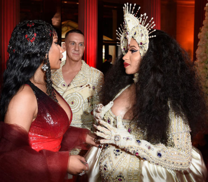 Nicki Minaj gives Cardi B $5,000 gift basket for Baby Kulture