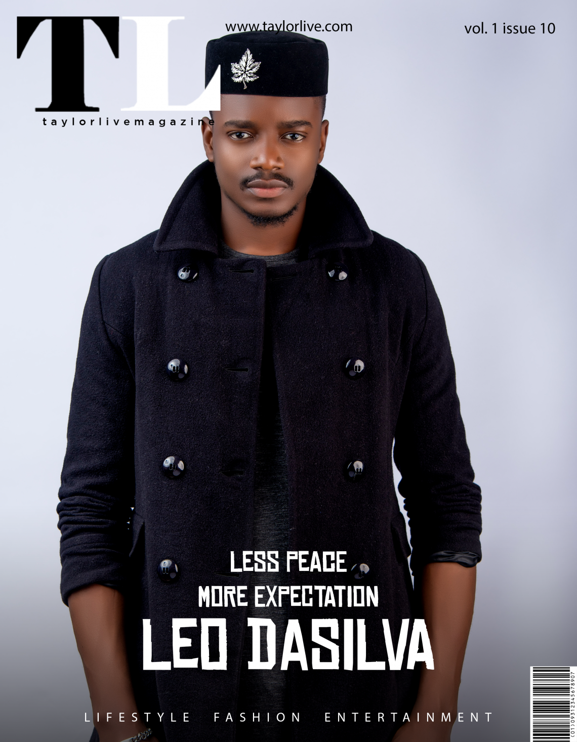 LESS PEACE MORE EXPECTATION! Leo Dasilva Covers Taylor Live Magazine's Latest Issue