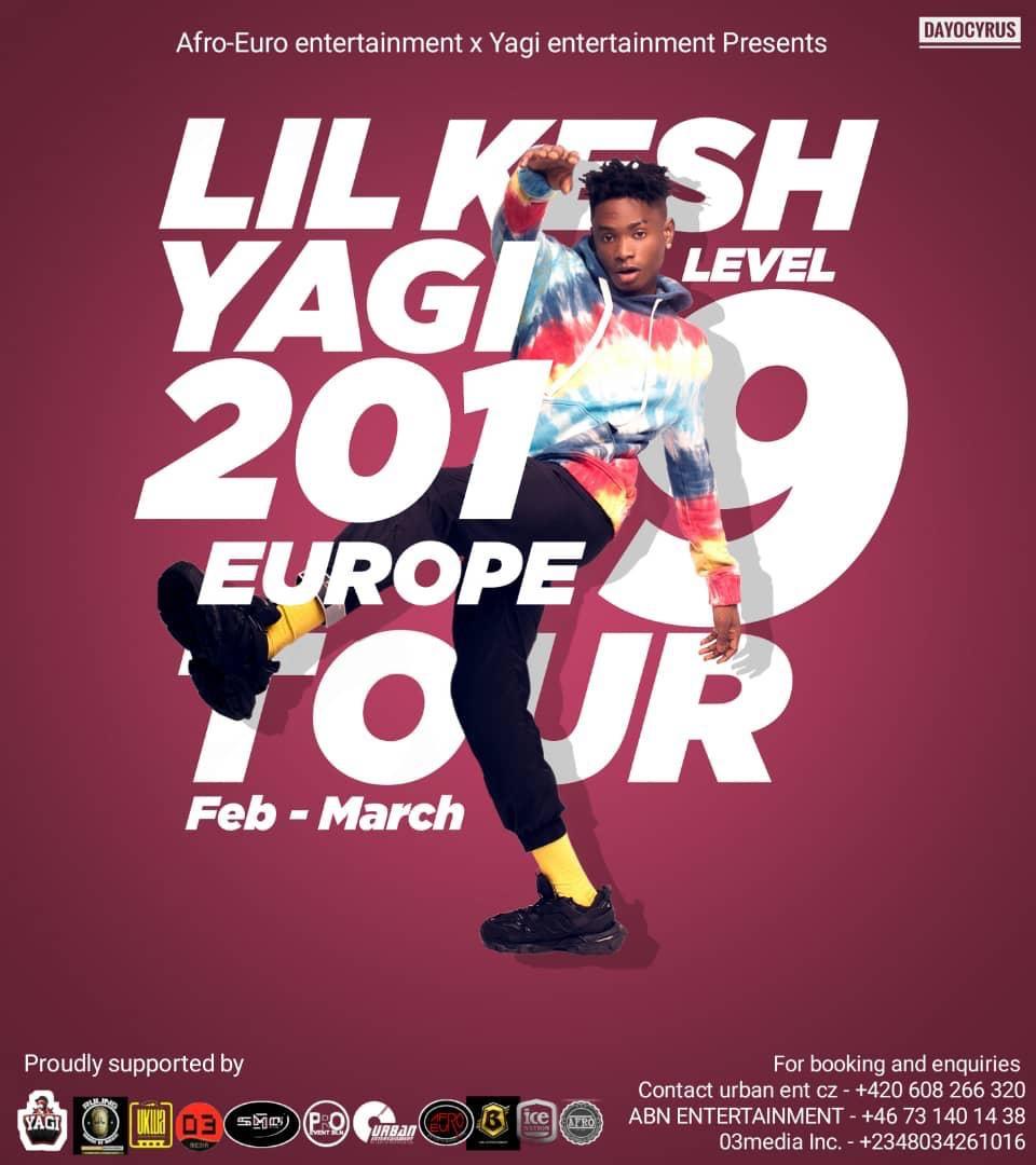LIL KESH EUROPE TOUR 2019