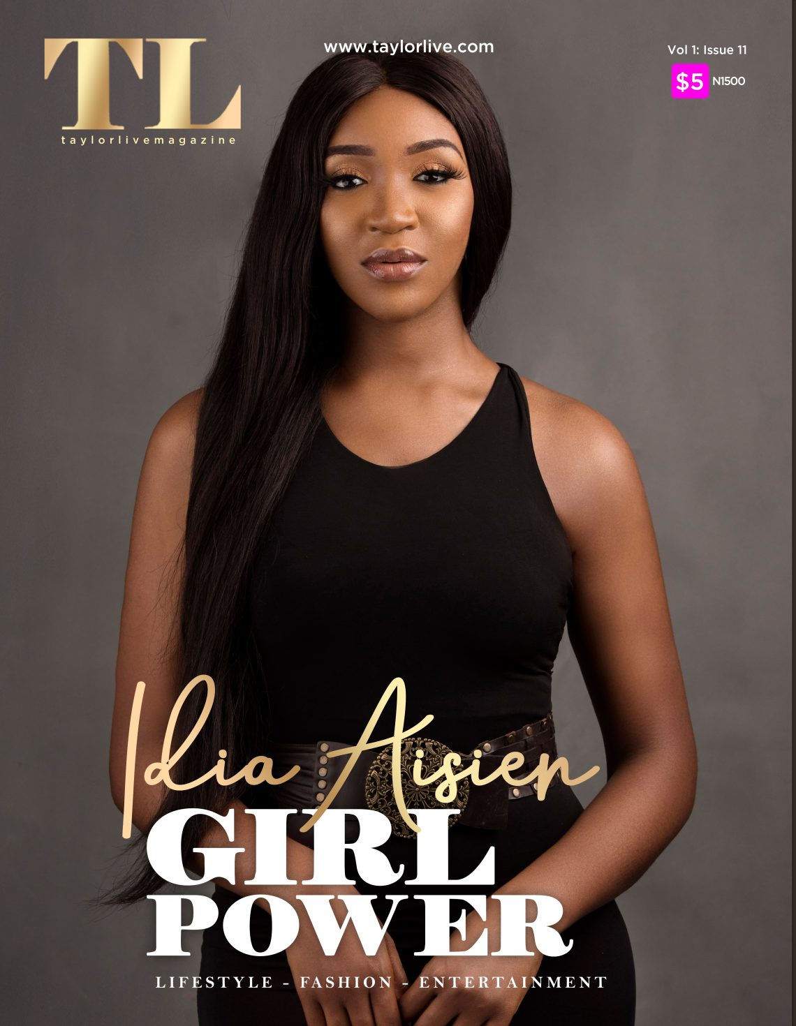 GIRL POWERIdia Aisien Covers Taylor Live Magazine's Latest Issue