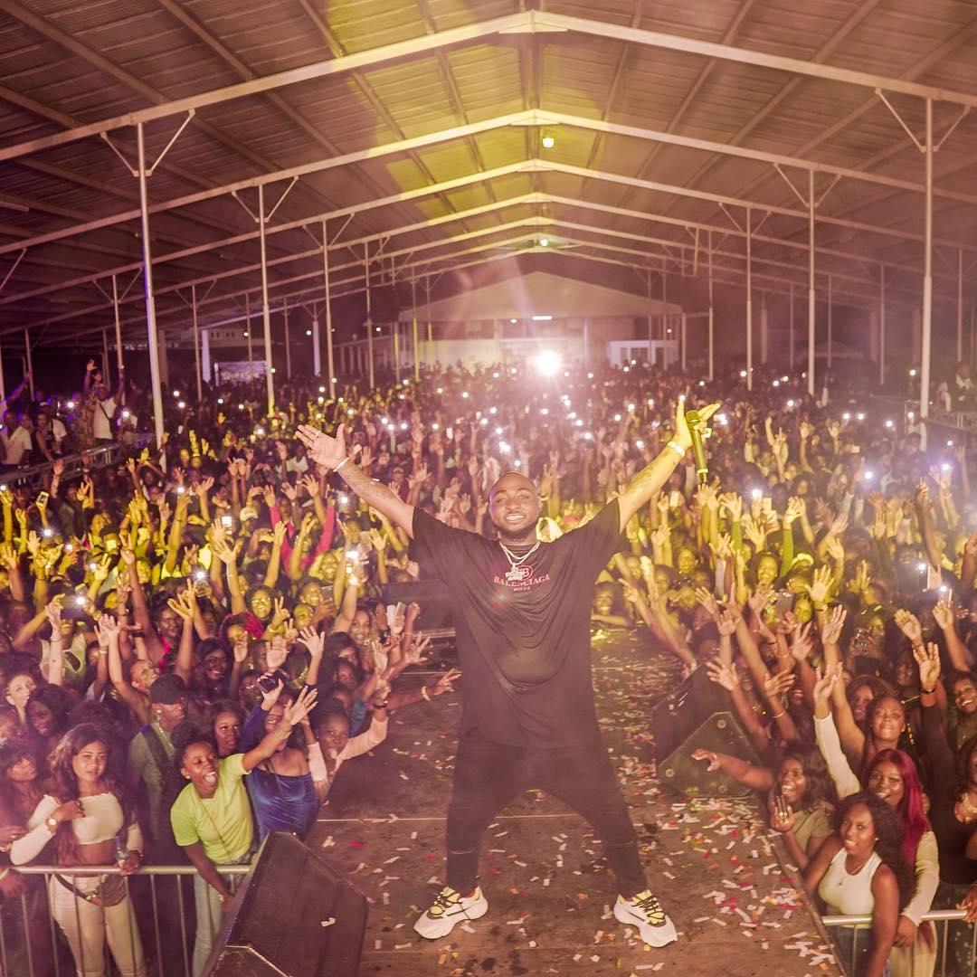 OBO Season! Davido performs to crowd of 10,000 in Suriname, South America