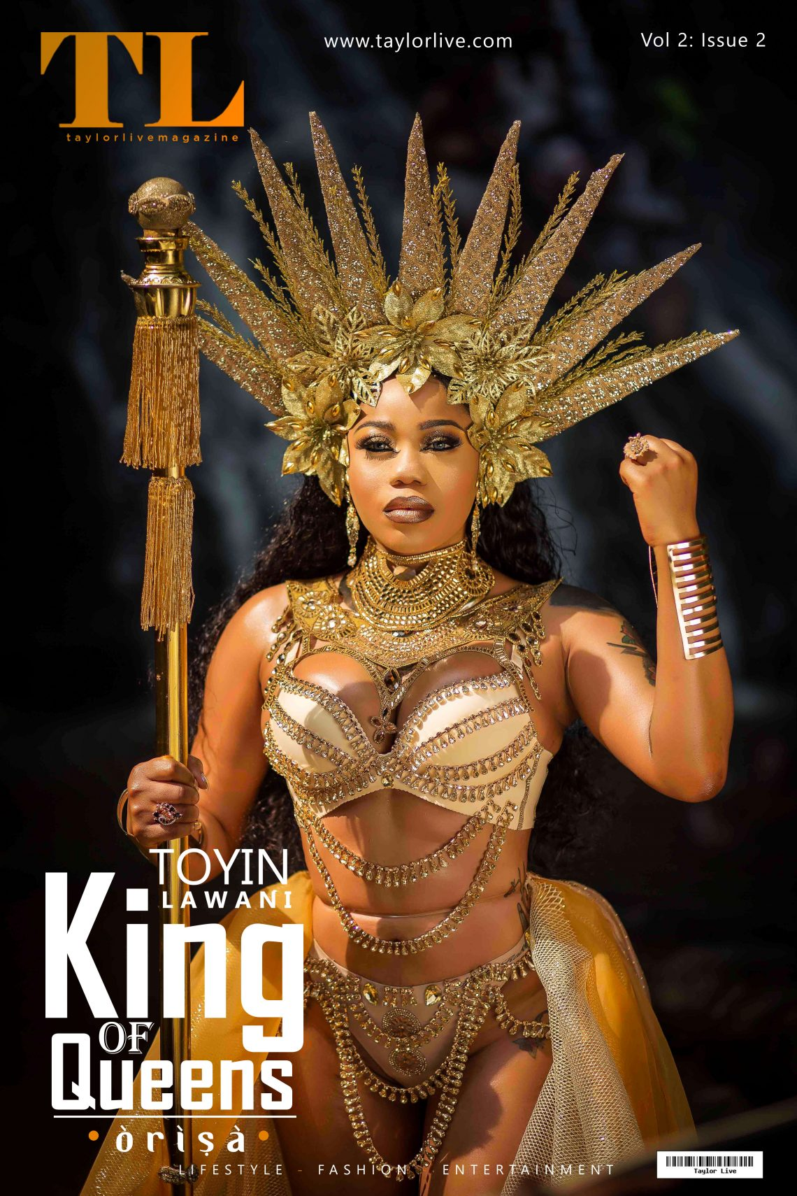 """""""ORISA"""" KING OF QUEENS  Toyin Lawani popularly known as Tiannah Covers Taylor Live Magazine's Latest Issue (TL Magazine)."""