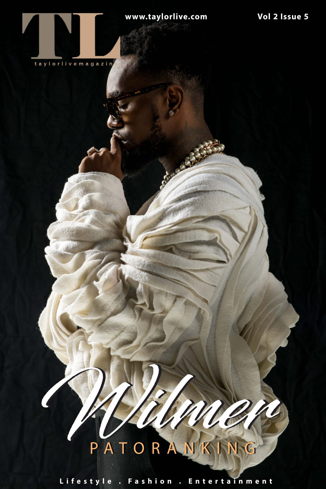 Wilmer – Patoranking Covers Taylor Live Magazine's Latest Issue