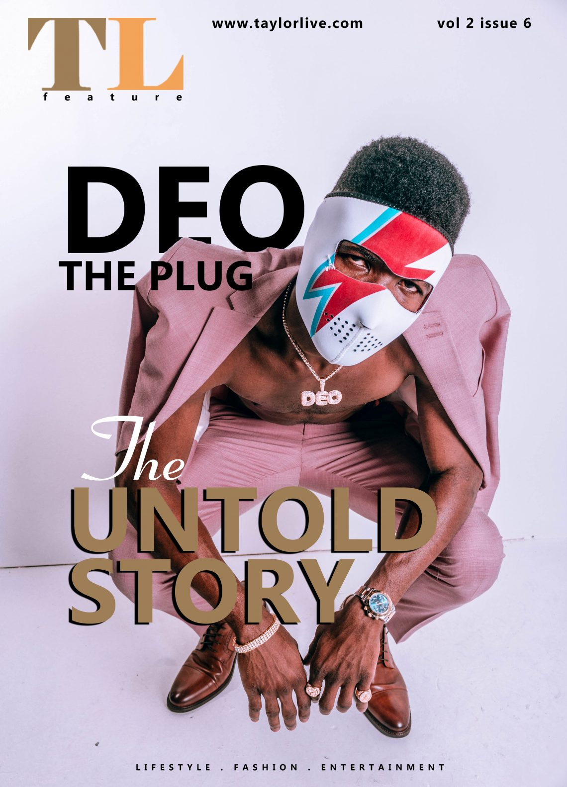 """The Untold Story"" Deo The Plug Features On The Latest Issue Of Taylor Live Magazine"
