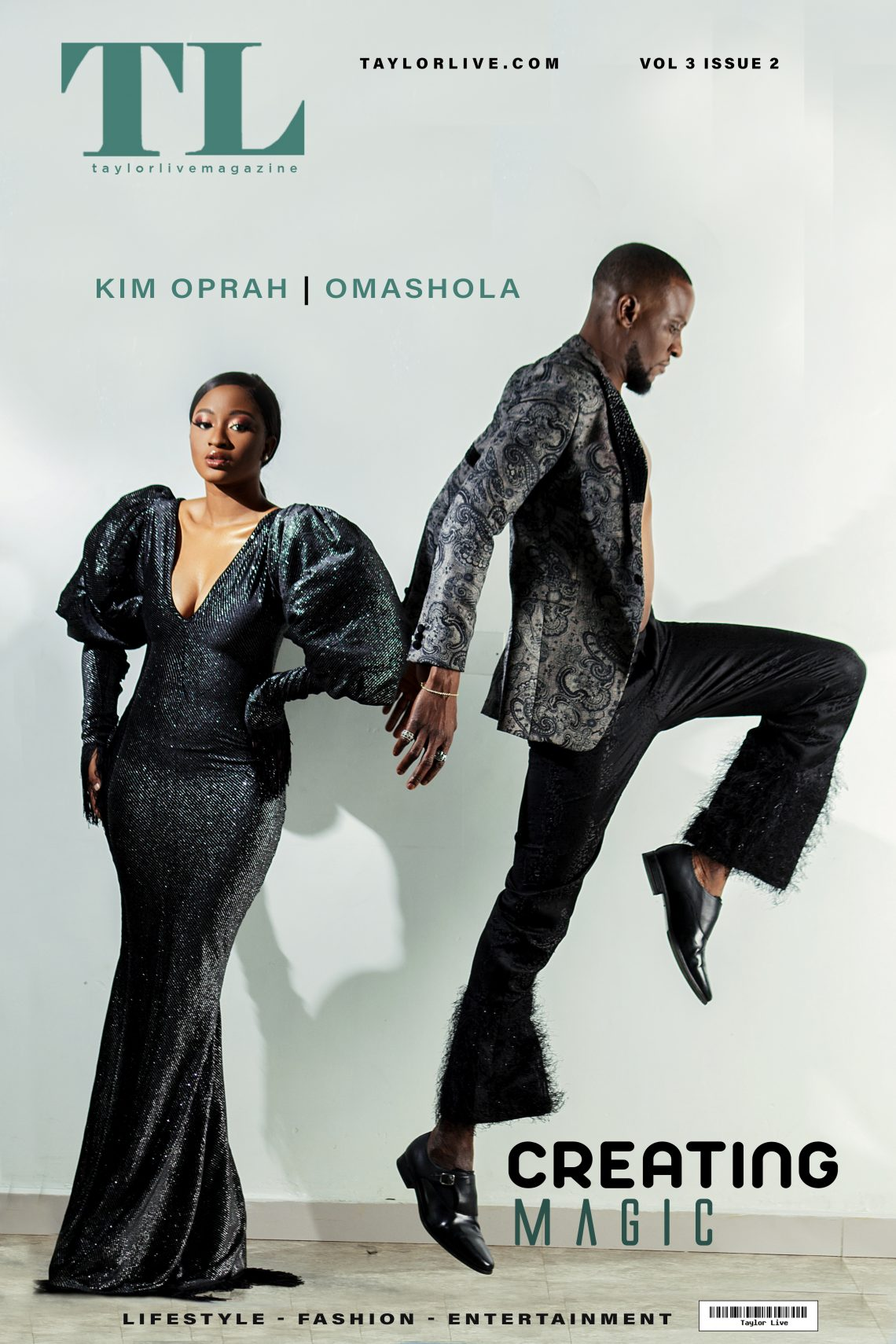 Creating Magic – Kim Oprah & Omashola Covers Taylor Live Magazine's Latest Issue
