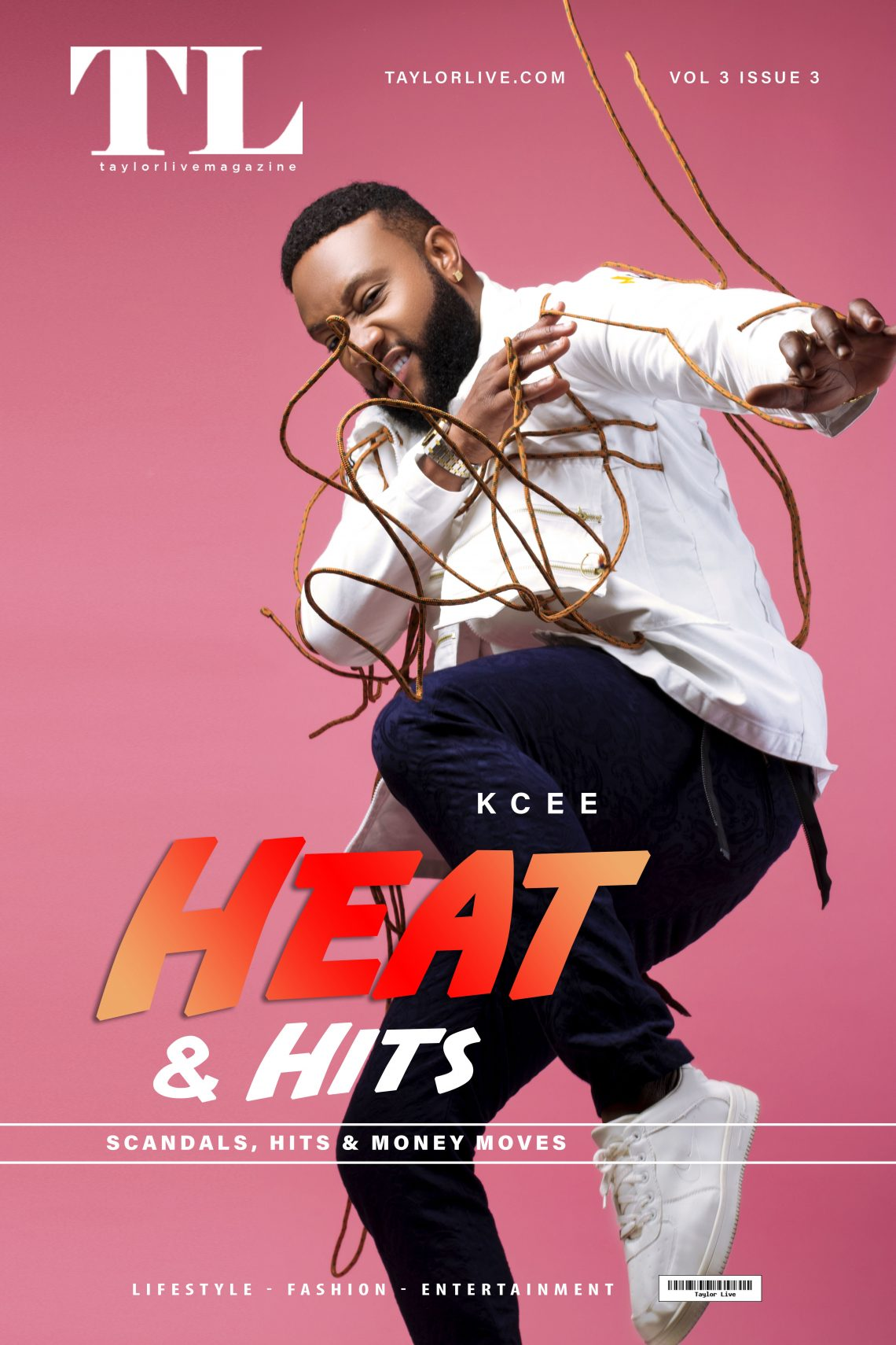 HEAT & HITS – Kcee Covers Taylor Live Magazine's Latest Issue