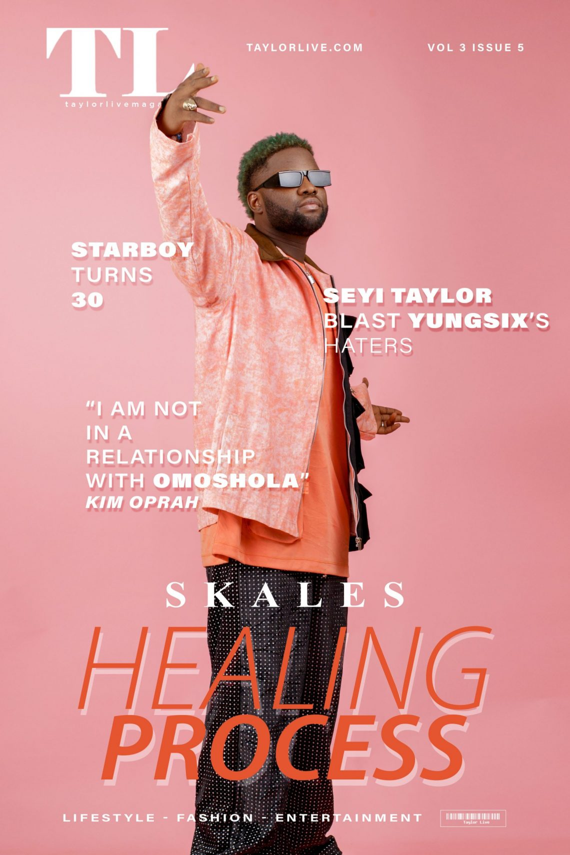 Healing Process – Skales Covers Taylor Live Magazine's Latest Issue
